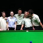 Team Snooker Island: from left to right Jake, Reanne, Ben, Oli, Kyren